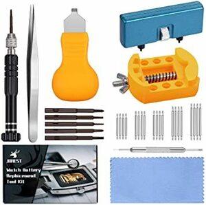 腕時計 電池交換 工具【JOREST】時計工具セット、 時計バンド/ベルト 交換工具、時計の裏蓋オープナー、 時計修理、時計アク