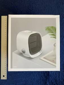 雑貨グッズ ☆ 新品未使用 ミニ冷風扇 エアークーラ 白 ホワイト1台 サーキュレータ USBがあれば 車中泊 屋外アウトドアキャンプ可