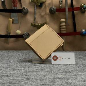 【ヌメ革 生成り】エイジング ボックス型 メンズ コインケース 小銭入れ コンパクト オープン型 財布 イタリアン 1円 送料無料
