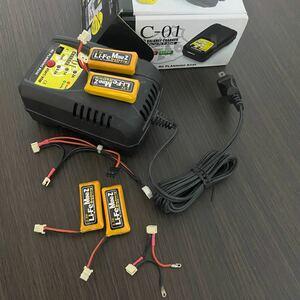 ミニッツ life リフェ li-fe バッテリー 充電器 コネクター Mini-z 京商 r246 c-01