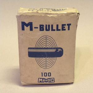 【未使用 新品】1970年代 当時物 マノク商事 M-Bullet BSウィンチェスター M-47用 ( 古い 昔の ビンテージ エアガン BS銃 弾丸 ビレット )