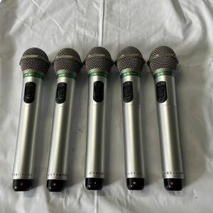 動作確認 audio-technica ATIR-T22B 5本セット 2MHz帯 赤外線 マイク ワイヤレスマイク オーディオテクニカ 第一興商 カラオケマイク