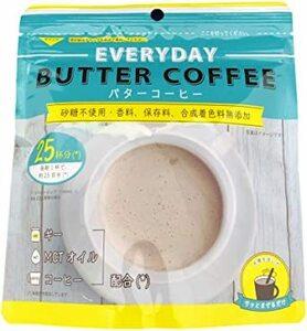 コーヒー色とクリーム色 お湯を注ぐだけ 【粉末インスタント】エブリディ・バターコーヒー 85g 85g (約25杯分) ギー&a
