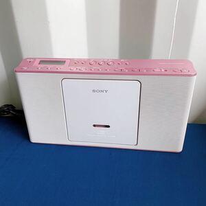美品! SONY ソニー パーソナルオーディオシステム パールピンク ホワイト ラジカセ ZS-E80 2017年製