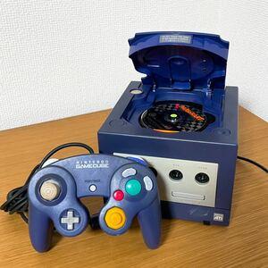 Nintendo 任天堂 GAMECUBE ゲームキューブ ブルー ネイビー DOL-001 2000年製 マリオカートのソフト付き