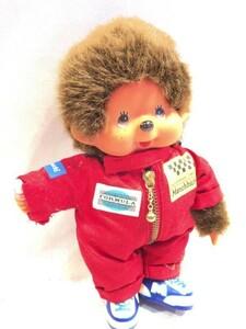 ■5028■セキグチ 昭和レトロ モンチッチ つなぎ服 赤 ぬいぐるみ 人形 玩具 おもちゃ ヴィンテージ アンティーク