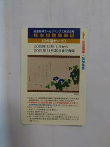 阪急阪神ホールディングス  株主優待乗車証 25回カード 有効期限2021年11月30日 送料込み