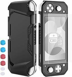 ブラック Nintendo Switch Liteケース 【HeysTop】スイッチライト カバー 4点セット 【Switch