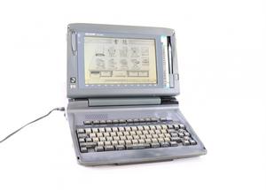 【動作OK】SHARP WD-X800 シャープ ワープロ 書院プロセッサ ペン付 モノクロ グレーカラー 事務 OA機器 簡単コピー 印刷機能 FAFZ94