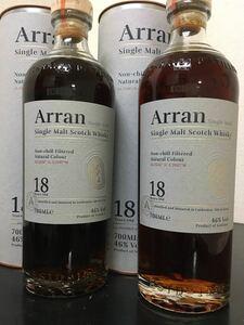 Arran(アラン)18年 シングルモルト スコッチウイスキー700ml 46%×2本 送料無料!