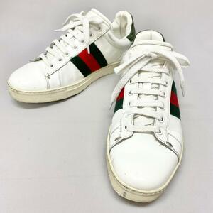 ◆GUCCI グッチ シェリーライン スニーカー サイズ38.5◆white/白/ホワイト/メンズ/靴/シューズ/KI1004