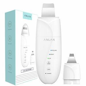 ANLAN 2in1 ウォーターピーリング 超音波 ダブルピーリングヘッド 美顔器 ピーリング スマートピール ION+ ION- 超音波振動