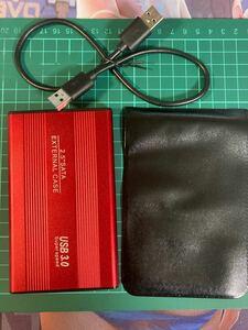 外付けポータブルHDD USB3.0 赤 750GB ケース新品1 大容量