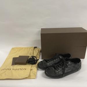 【箱あり】ルイヴィトン ダミエ スニーカー BA0048 サイズ 5 1/2(約24.5cm)<シューズ> ブラック 靴 メンズ