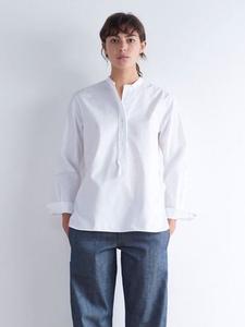 ■MARGARET HOWELL 定番フェイバリットシャツ (I)■ 白シャツ カラーレス マルタンマルジェラ アナトミカ アーツ&サイセンス アニエスB