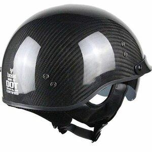 ●カーボンファイバー/バイク/ライダーハーフレトロヘルメット/オープンフェイス/M~XXL