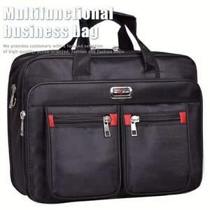 2WAY ビジネスバッグ メンズ ポケット多 書類カバン 7998477 ブラック 新品 1円 スタート