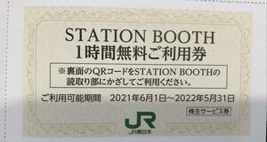 STATIONBOOTH1時間無料利用券 JR東日本株主優待券