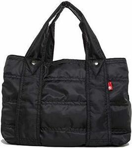 ブラック M (ララゲン)lalagen トートバッグ レディース 軽量 軽い 大容量 A4 a4 巾着付き Mサイズ 旅行バッ