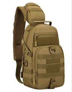 ミリタリーボディバッグ ショルダーバッグ 大容量 メンズボディバッグ ワンショルダー サバゲー 新品未使用 軍事バッグ