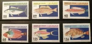 サハラ(2) 魚(6種) MNH
