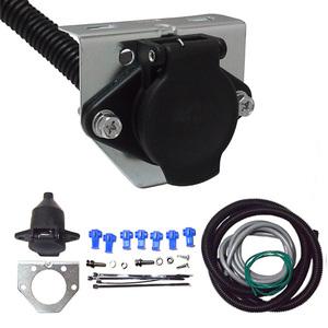 汎用 7芯丸形コネクター カプラー 配線キット(牽引車側) トレーラー/キャンピングトレーラー