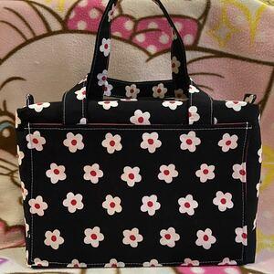 ハンドメイド花柄ボックス型バッグ 1009