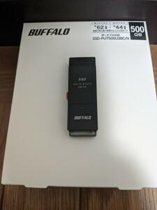 BUFFALO ポータブルSSD 500GB SSD-PUT500U3BC/N