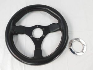 283* steering gear leather black car steering wheel automobile steering wheel car supplies parts black Manufacturers unknown postage 730 jpy ~