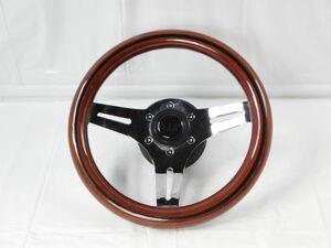 278*V..I.P steering gear wooden steering wheel car steering wheel VERY IMPORTANT PERSON automobile parts steering wheel postage 870 jpy ~