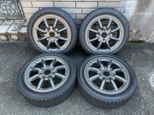 RSワタナベ New RS8 15×5.0J+45 PCD100/4H 165/50R15 サマータイヤ バリ山 4本セット 軽自動車に