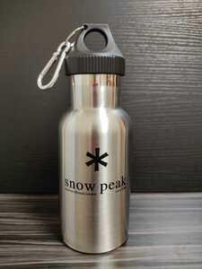 最後の1本です。 Snow Peakスノーピーク 真空断熱ステンレスボトル 350ml 水筒 ボトルカバー付