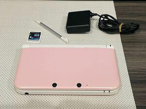ニンテンドー3DS LL ピンクホワイト 本体動作品 送料無料 任天堂 Nintendo 付属品付き