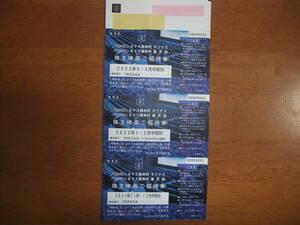 【即決有・送料込】 東京楽天地株主優待 株主映画ご招待券30枚  カード要返却