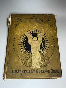 挿絵本 ギュスターヴ・ドレ 失楽園 1800年代 大型本 アンティーク 古書 洋書 John Milton's Paradise Lost Gustave Dore
