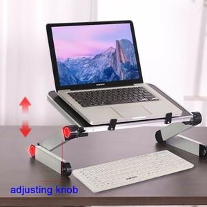 HobbyLane 合金ラップトップスタンド ポータブル 折りたたみ調節可能 ノートパソコンデスク コンピュータテーブルスタンド
