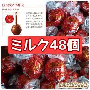 【箱詰・スピード発送】48M ミルク48個 リンツ リンドール シルバー チョコレート ジップ袋詰 ダンボール箱梱包 送料無料 くろえだまめ