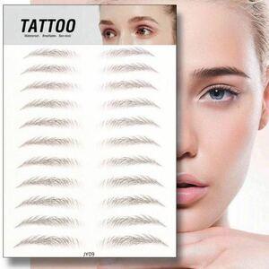 眉毛タトゥーシール★3D 6D 立体的 自然 アイブロウ 部分タトゥー ブラウン JY-09