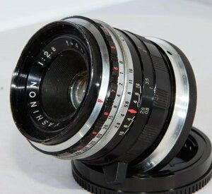 ヤシカミニスターIIの富岡光学製orZUNOWのレンズ YASHINON 1:2.8 f=45mm をNEXマウントに移植 菱形指標【改造レンズ】