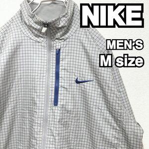 NIKE ナイキ ナイロンジャケット グレー 古着 メンズ M 08
