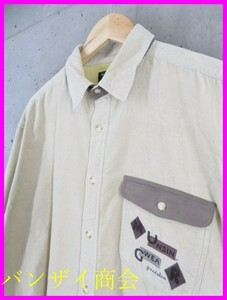 2010b2◆日本製◆MUNSINGWEAR マンシング ロゴ刺繍 長袖コーデュロイシャツ MA/ゴルフ/トラッド/メンズ/男性/紳士