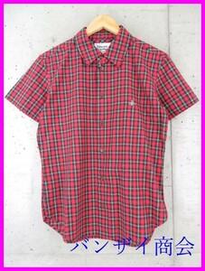 【送料300円可】5001b13◆日本製◆美品◆Vivienne Westwood MAN ヴィヴィアンウエストウッド オーブ刺繍 長袖タータンチェックシャツ 44