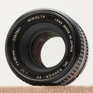 【整備・実写】ミノルタ MINOLTA MC ROKKOR-PF 50mm F1.7