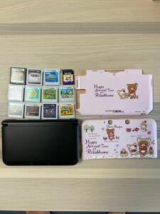 豪華!3DS LL 3DSLL 任天堂 3DS 本体 ブラック ソフト11本付