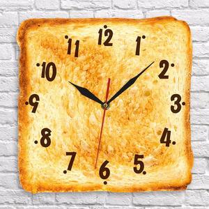 壁掛け時計 食パン トースト 可愛い モダン調
