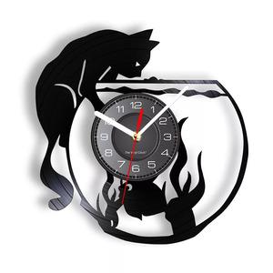 壁掛け時計 猫 金魚 可愛い おしゃれ お買い得