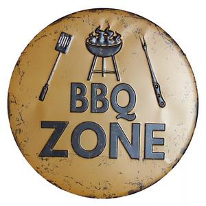 金属製 看板 レトロ 30cm BBQ カフェ 居酒屋 バー