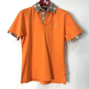 Y215-20 バーバリー BURBERRY ポロシャツ 半袖 レディース サイズ不明 タグ付き 未使用品 汚れあり