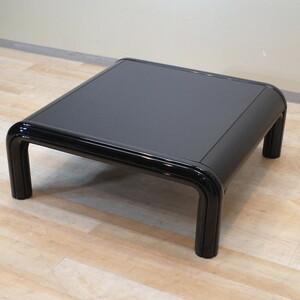 幅870 奥870 高320 KNOLL ノル テーブル ガエ アウレンティ GAE AULENTI センターテーブル 黒 デザイナーズ オフィス 応接 中古 BR5273
