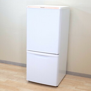 パナソニック Panasonic NR-B147W 冷蔵庫 冷凍庫 ホワイト 耐熱トップテーブル コンパクト 2段 オフィス家電 2015年製 休憩室 事務 BR6190